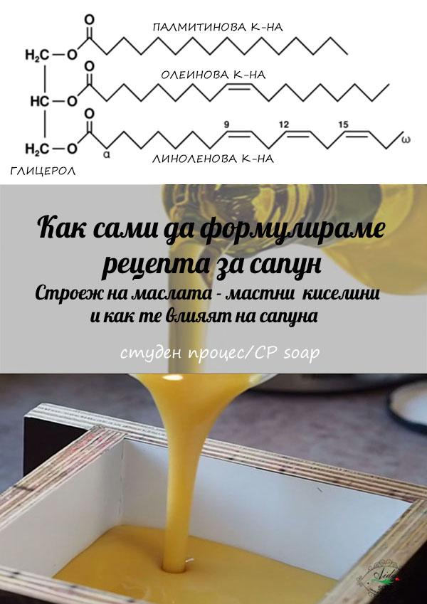 Формулиране на рецепта за сапун-мастни киселини
