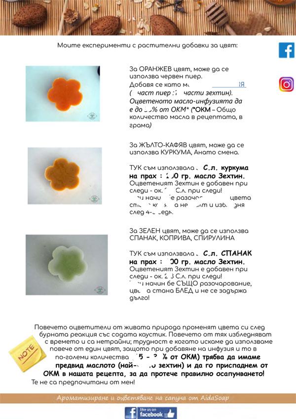 4. Ароматизиране и оцветяване на домашния сапун - начинаещи